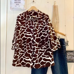 Heart Soul trendy giraffe print jacket